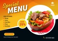 Food Offer Banner Design Template Carte postale