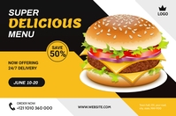 Food Offer Banner Design Template Баннер 4' × 6'
