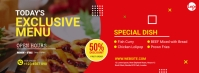 Food Offer Facebook Cover template