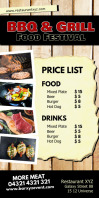 Food Offer Price List Special Roll up Banner template
