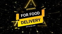 Food opening post Facebook 封面视频 (16:9) template