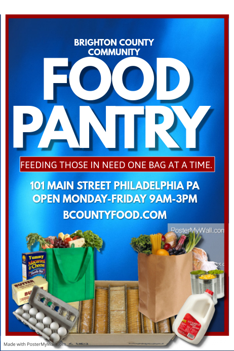 food pantry template postermywall