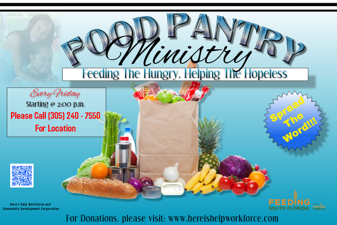 food pantry flyer template postermywall