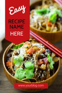Food Pinterest Template