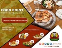 Food point, restaurant billboard wallboard po Poster/Wallboard template