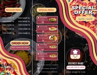 FOOD POINT PIZZA POINT SPECIAL DISCOUNT MENU Flyer (US Letter) template
