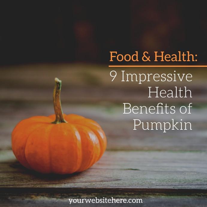 Food Pumpkin Instagram Template