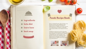 Food Recipe Book Blog Header template