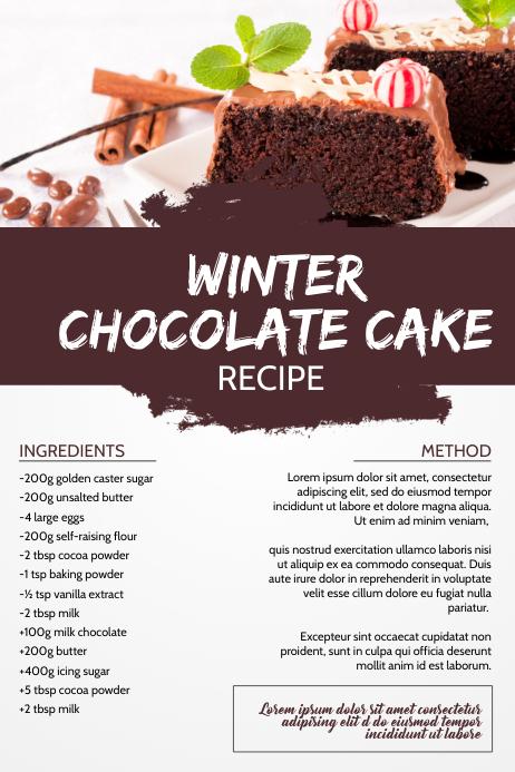 Food Recipe Page Template Плакат