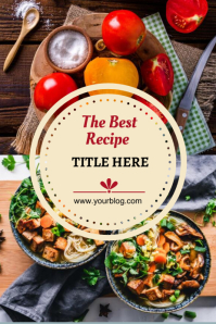 Food Recipe - Pinterest Graphic