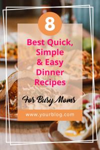 Food Recipe - Pinterest Graphic template