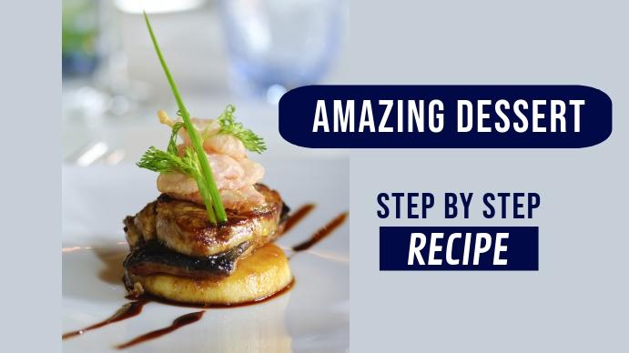 Food Recipe youtube thumbnail template