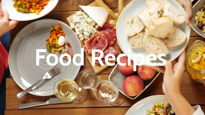 Food Recipes video poster template