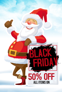 Black Friday Sale Pinterest Graphic template