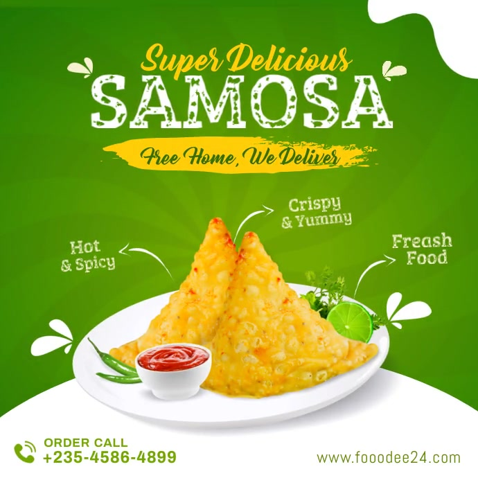 Food samosa instagram promotion and banner po template