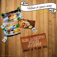 food stall/shop flyer