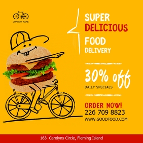 Food Take out and Delivery Discount Ad