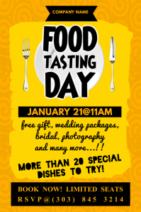 Food Tasting Day Poster Плакат template