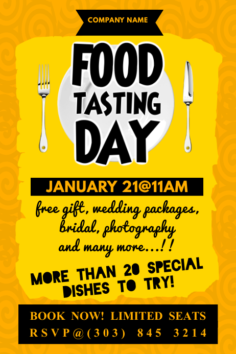 Food Tasting Day Poster