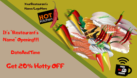Food Template Carte de visite