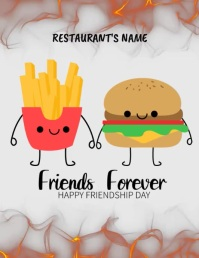 Food Template Ulotka (US Letter)