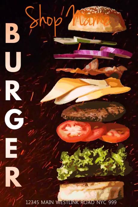 Food Template Bannière 4' × 6'