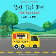 Food truck,food truck festival Publicación de Instagram template