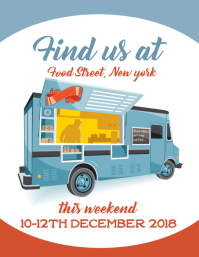 Food truck Flyer (US Letter) template
