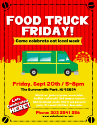Customizable design templates for food truck postermywall food truck festival flyer pronofoot35fo Images