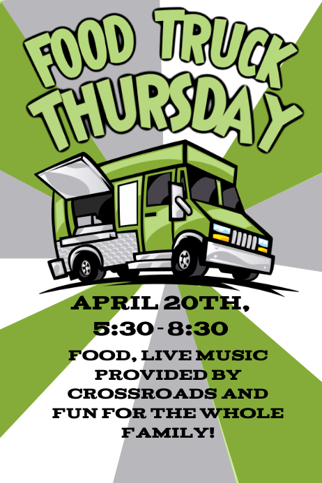 Food Truck Flyer Poster template