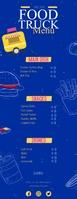 Food Truck Menu Digital Signage Meia página - Letter template