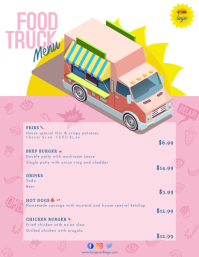 Food Truck Menu Digital Signage Flyer (Letter pang-US) template