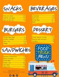 Food Truck Menu Digital Signage