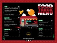 Food Truck Menu Digital Signage Flyer (US-Letter) template