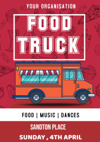 food truck poster A3 template