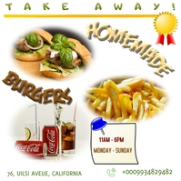 Food truck posters Instagram Plasing template