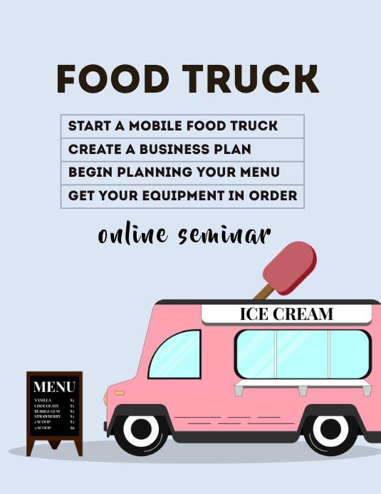 Food Truck Seminar Flyer (Letter pang-US) template