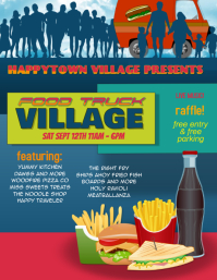 Food Truck Village Festival Event Flyer
