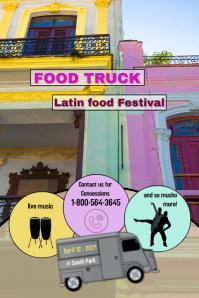 food trucks/restaurants/menus/latin foods Poster template