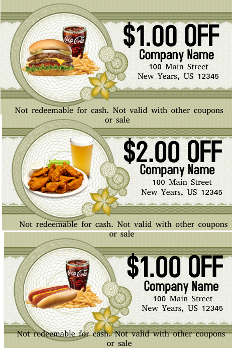 Food Voucher Template  Postermywall