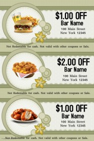 Customizable Design Templates for Food Voucher | PosterMyWall