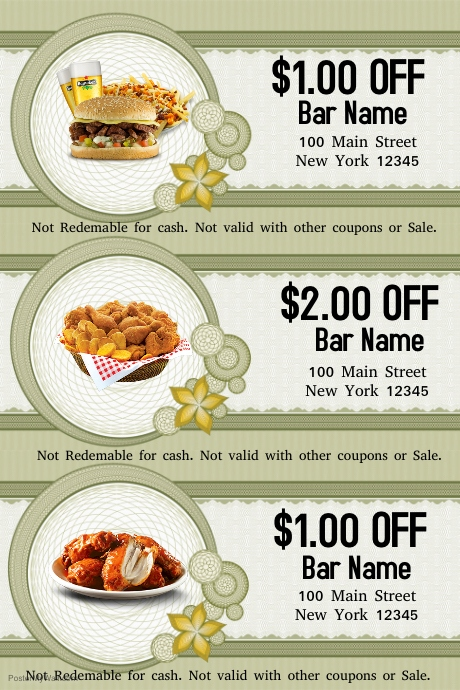 Food Voucher Template | PosterMyWall