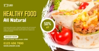 food webinar Facebook event cover photo Facebook-evenementomslag template