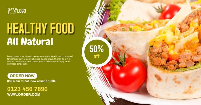 food webinar Facebook event cover photo template