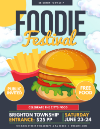 Foodie festival Flyer (US Letter) template