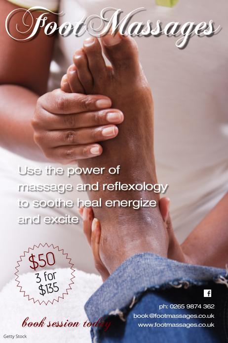 foot massage poster