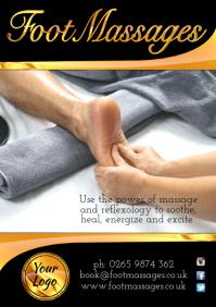 A4 Foot Massage Poster
