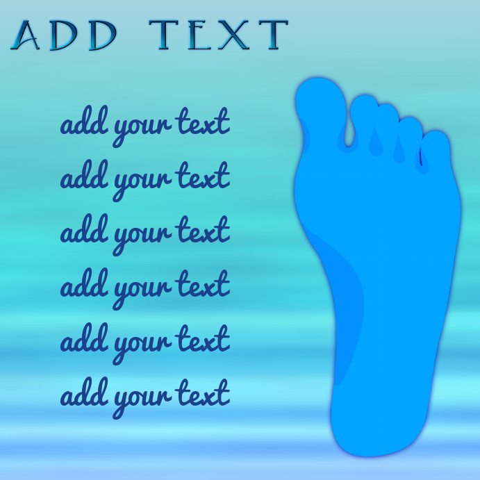 foot treatment with water background instagram template