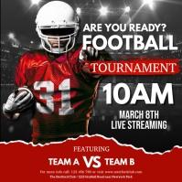 football, american football, rugby 方形(1:1) template