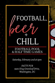 Football, Beer + Chill Party
